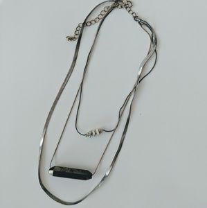 Topshop Layered Silver Necklace